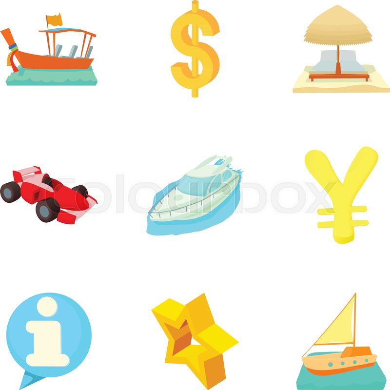 800x800 Monetary Opportunity Icons Set. Cartoon Set Of 9 Monetary