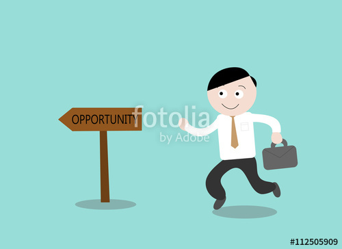 500x364 Opportunity, A Hand Drawn Vector Illustration Of A Businessman