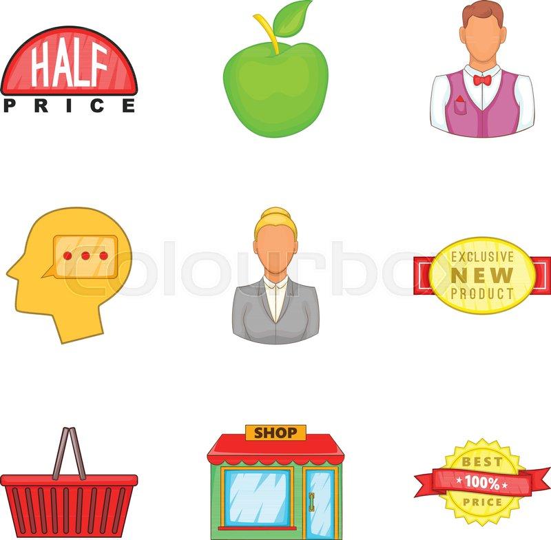 800x784 Shopping Opportunity Icons Set. Cartoon Set Of 9 Shopping