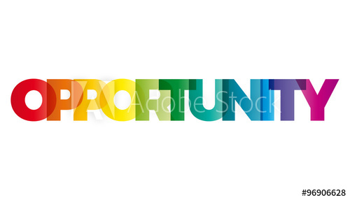 500x286 The Word Opportunity. Vector Banner With The Text Colored Rainbo