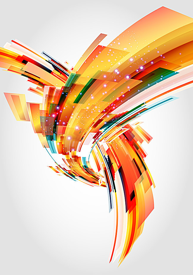 650x925 Vector Orange Abstract Lines Background, Vector, Orange, Abstract