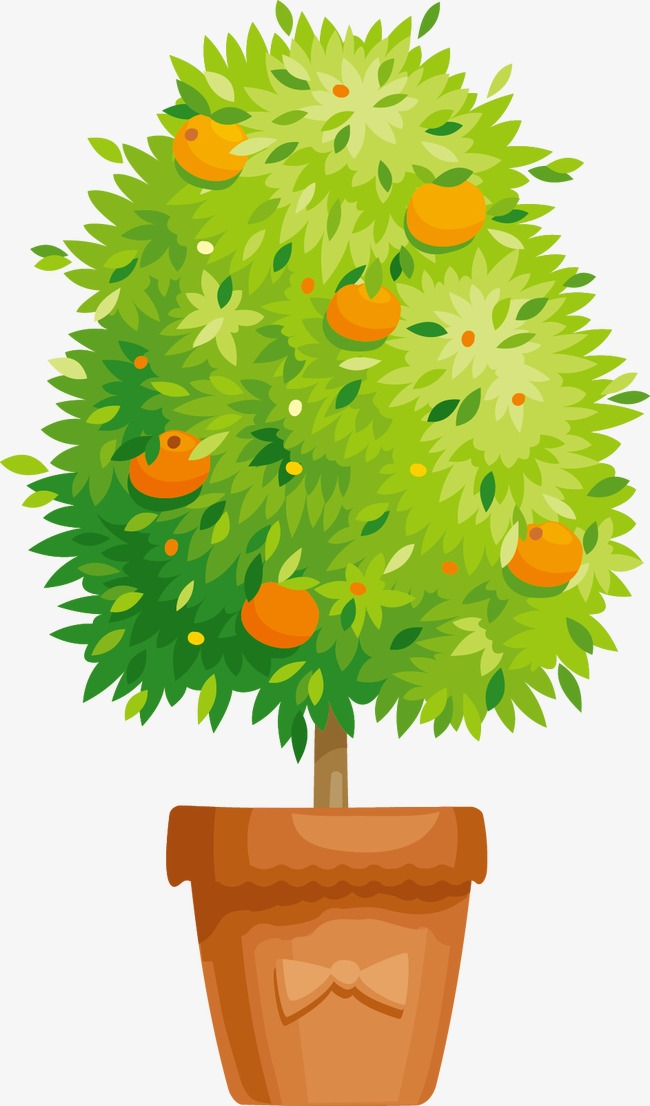 650x1106 Vector Orange Tree, Orange Vector, Tree Vector, Orange Clipart Png