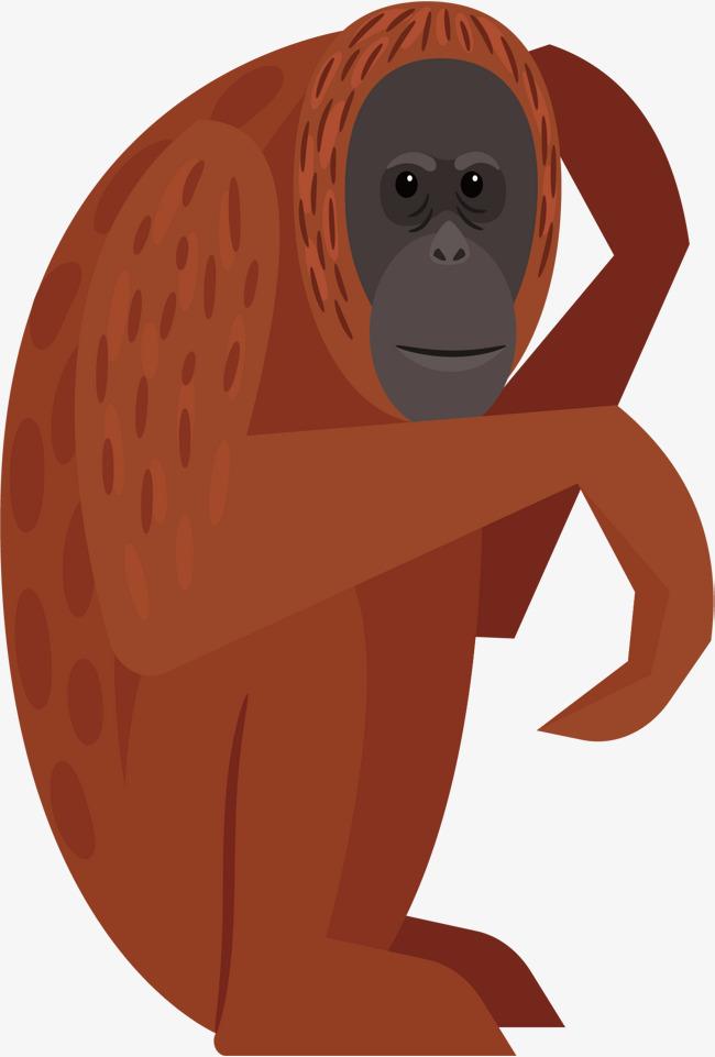 650x961 Hand Painted Orangutan Vector, Orangutan, Hand Painted, Cartoon