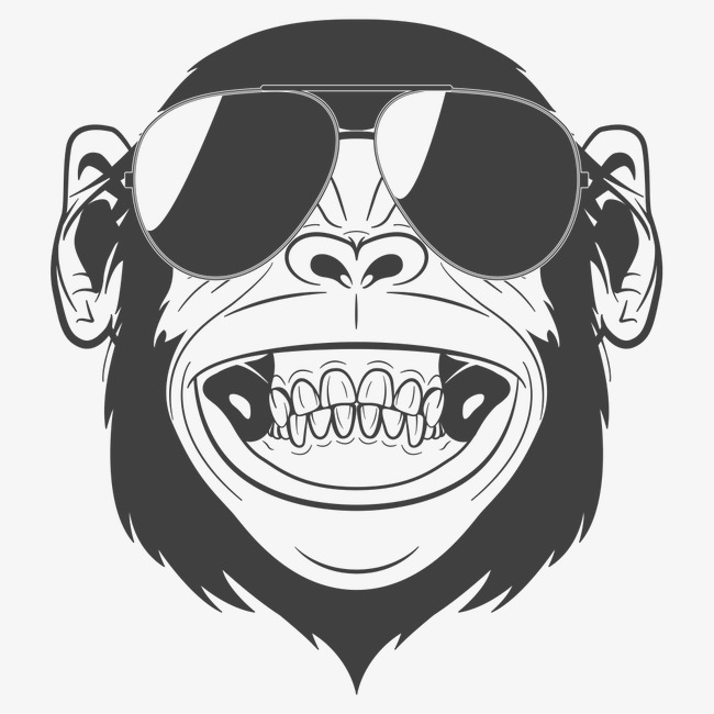 650x650 Laughing Orangutan, Cartoon Comics, Animal Illustration, Cartoon