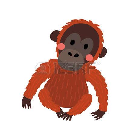 450x450 Orangutan Clipart Vector 18