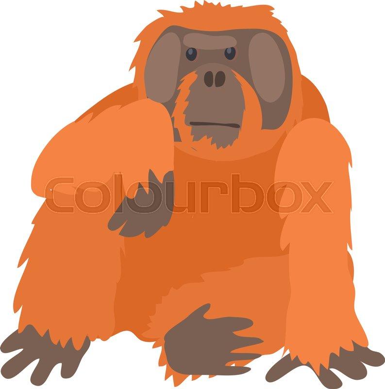 793x800 Orangutan Icon. Cartoon Illustration Of Orangutan Vector Icon For