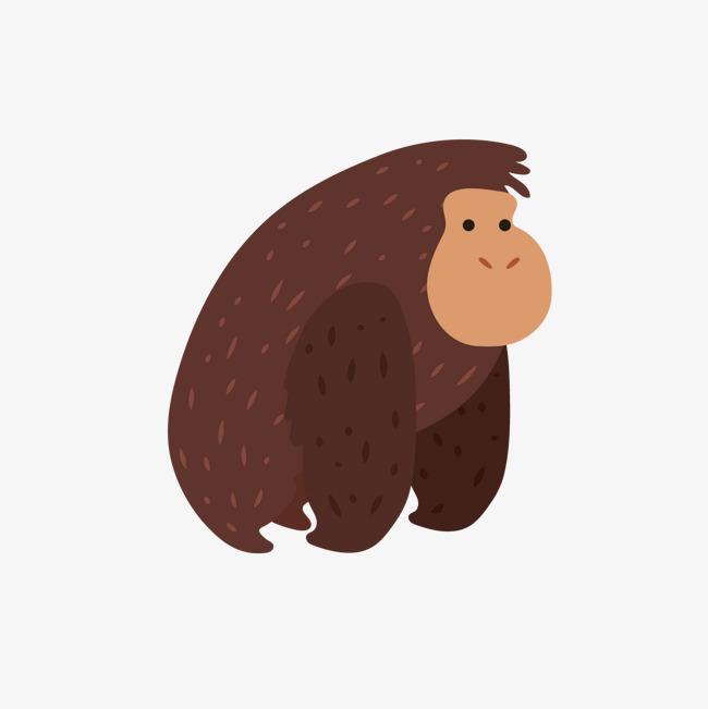 650x651 Vector Brown Orangutan, Orangutan, Vector Animal, Zoo Png And