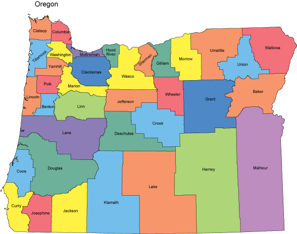 Oregon Map Vector at GetDrawings.com   Free for personal use Oregon ...