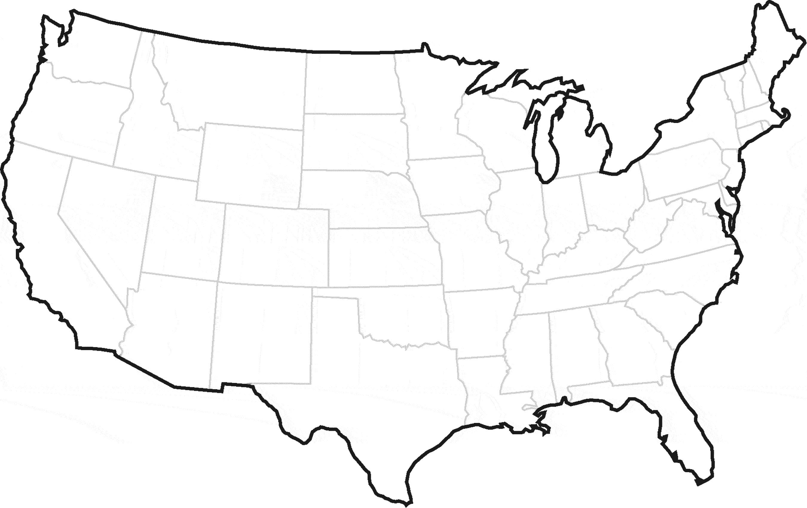2700x1702 United States Map Blank Game Save United States Map Outline Vector
