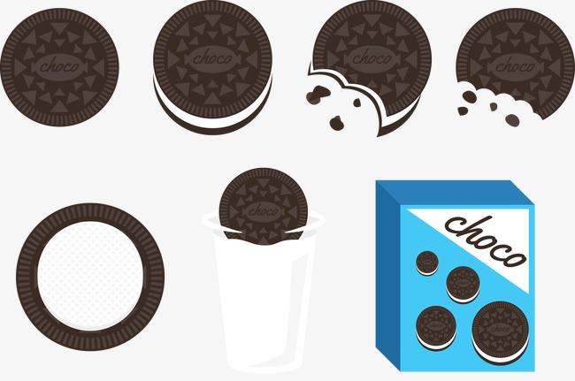 650x431 Oreo Cookies Vector Illustration, Oreo Cookies, Biscuit, Vector