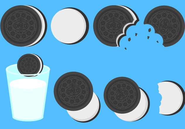 632x443 Free Flat Oreo Cookies Vector Free Vector Download 406077 Cannypic