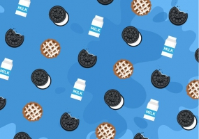 285x200 Oreo Pattern Free Vector Graphic Art Free Download (Found 16,972