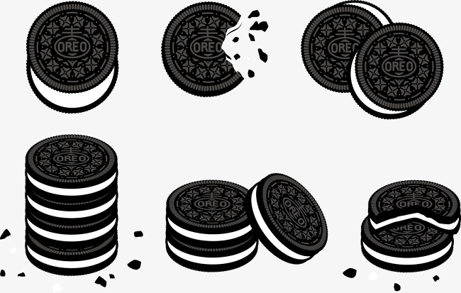 650x413 Vector Cookies, Milk Biscuits, Oreo, Biscuit Png And Vector For