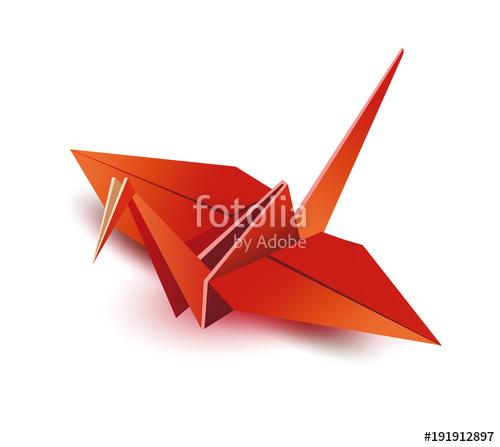 500x447 Origami. Origami Crane. Red Origami Crane. Red Paper Origami Crane