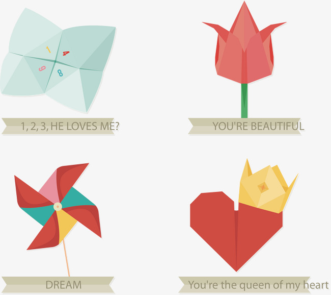 650x578 Vector Origami Windmill, Windmill, Origami, Vector Diagram Png And