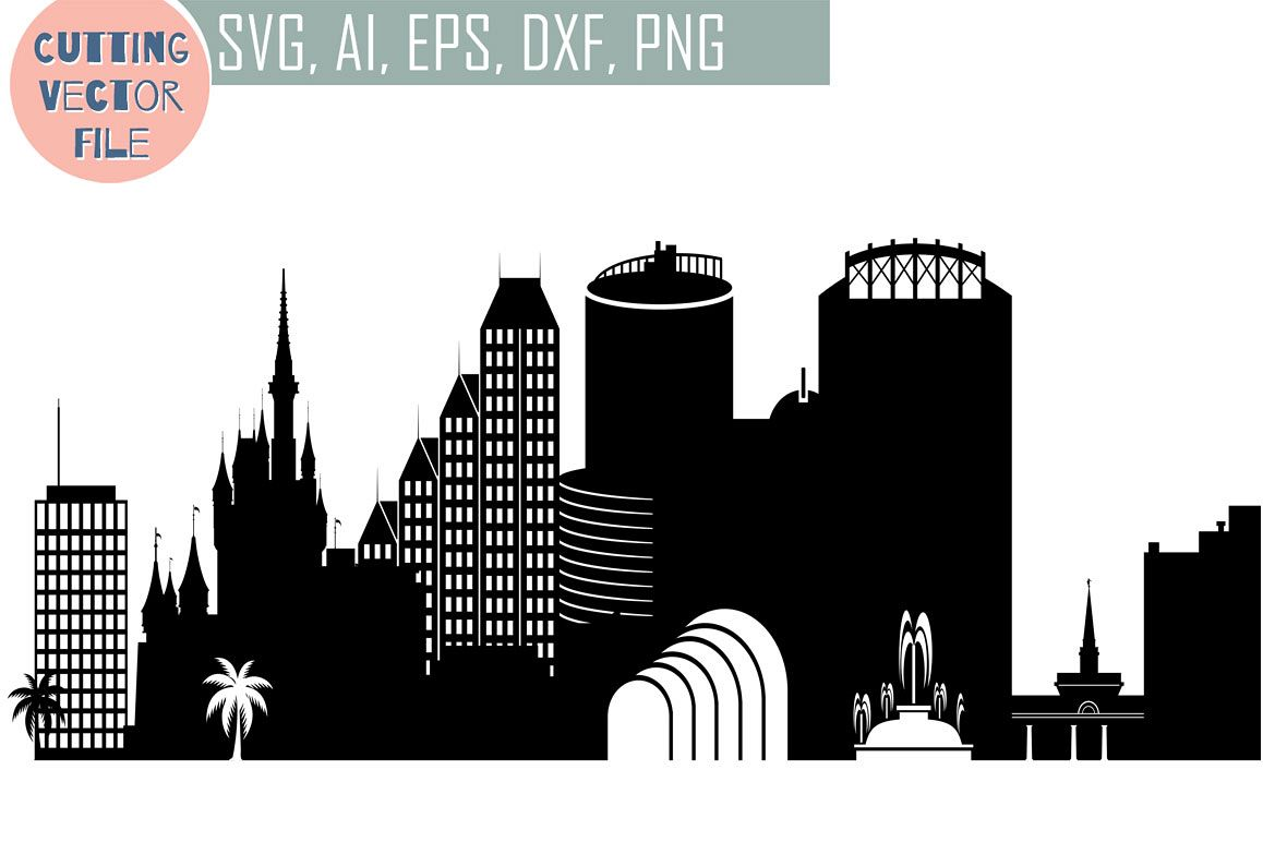 1158x772 Orlando Skyline Vector, Florida Usa City, Svg, Jpg, Png, Dwg, Cdr
