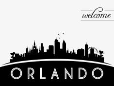 235x176 Orlando Usa Skyline Silhouette Vector Art Illustration Tattoos