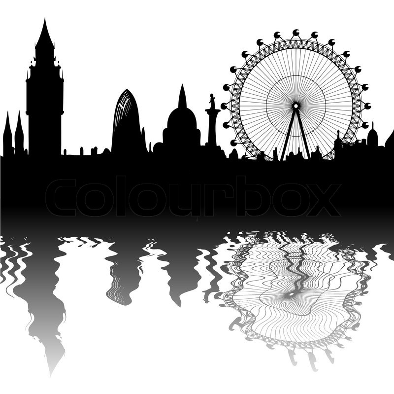 800x799 Vector London Skyline Stock Vector Colourbox