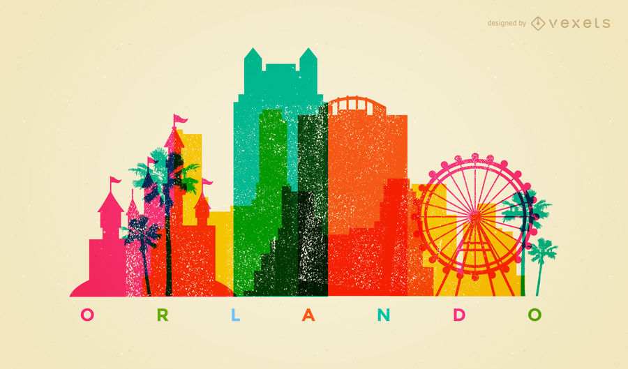 900x529 Colorful Orlando Skyline