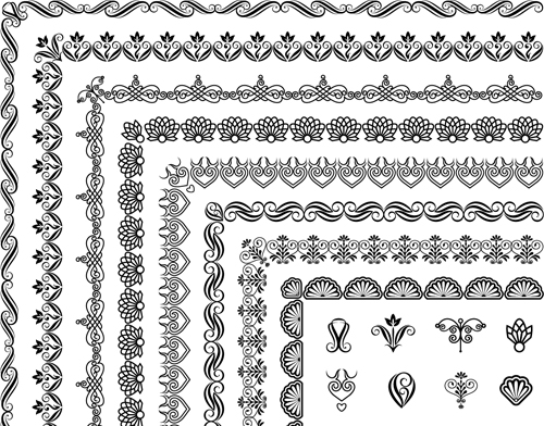 500x392 Corner Ornaments Borders Seamless Vector 02 Free Download