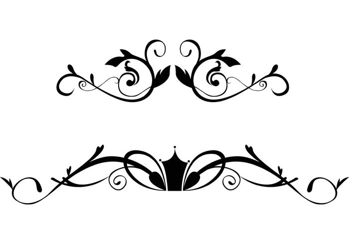 700x490 Free Floral Ornamental Border Vectors