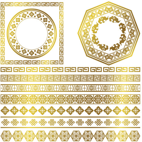 472x472 Golden Frame With Ornaments Border Vector Free Vector In