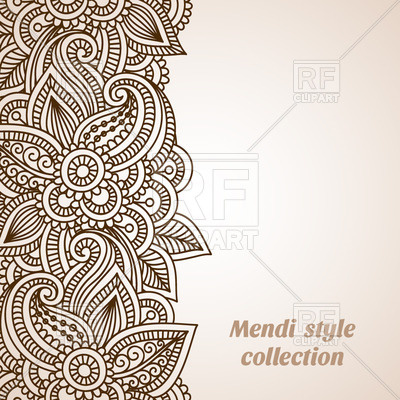 400x400 Mehndi Style Ornamental Border Vector Image Vector Artwork Of