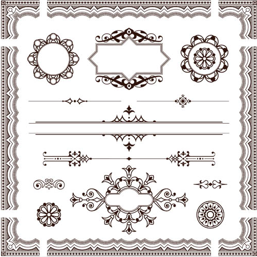 502x503 Ornament Borders Elements 19 Ai Format Free Vector Download