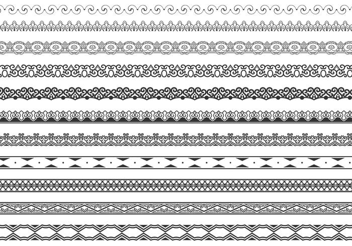 700x490 Ornamental Border Brushes Pack