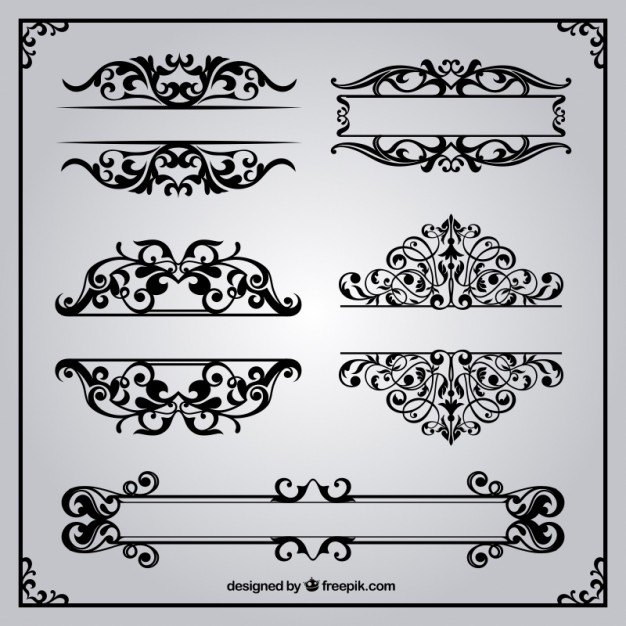 626x626 Ornamental Borders In Retro Style Vector Free Download