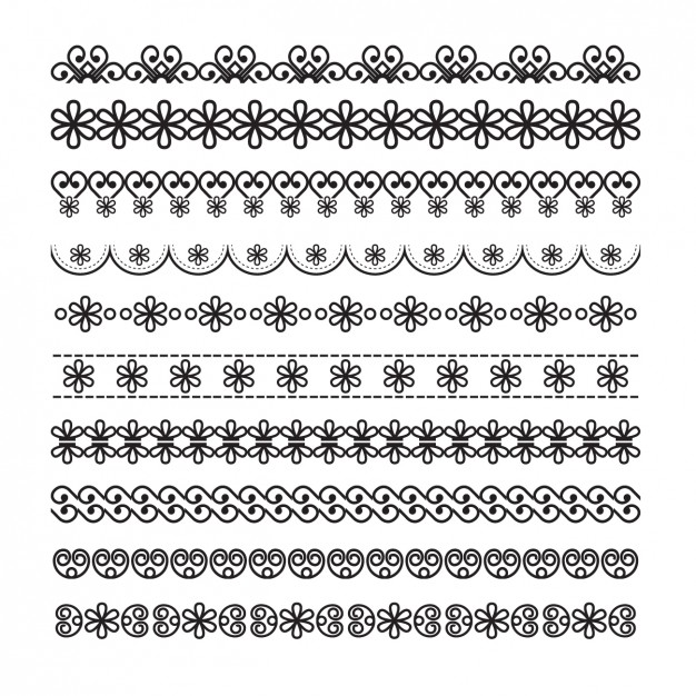 626x626 Ornamental Borders With Floral Details Vector Free Download
