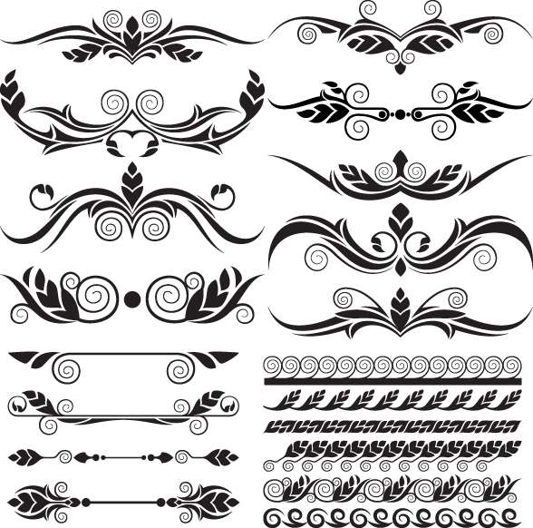 588x582 Ornaments Elements Vector Border Graphic 03 Free Download