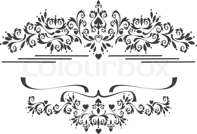 800x544 Black Ornamental Border, Frame On A White Background. Graphic