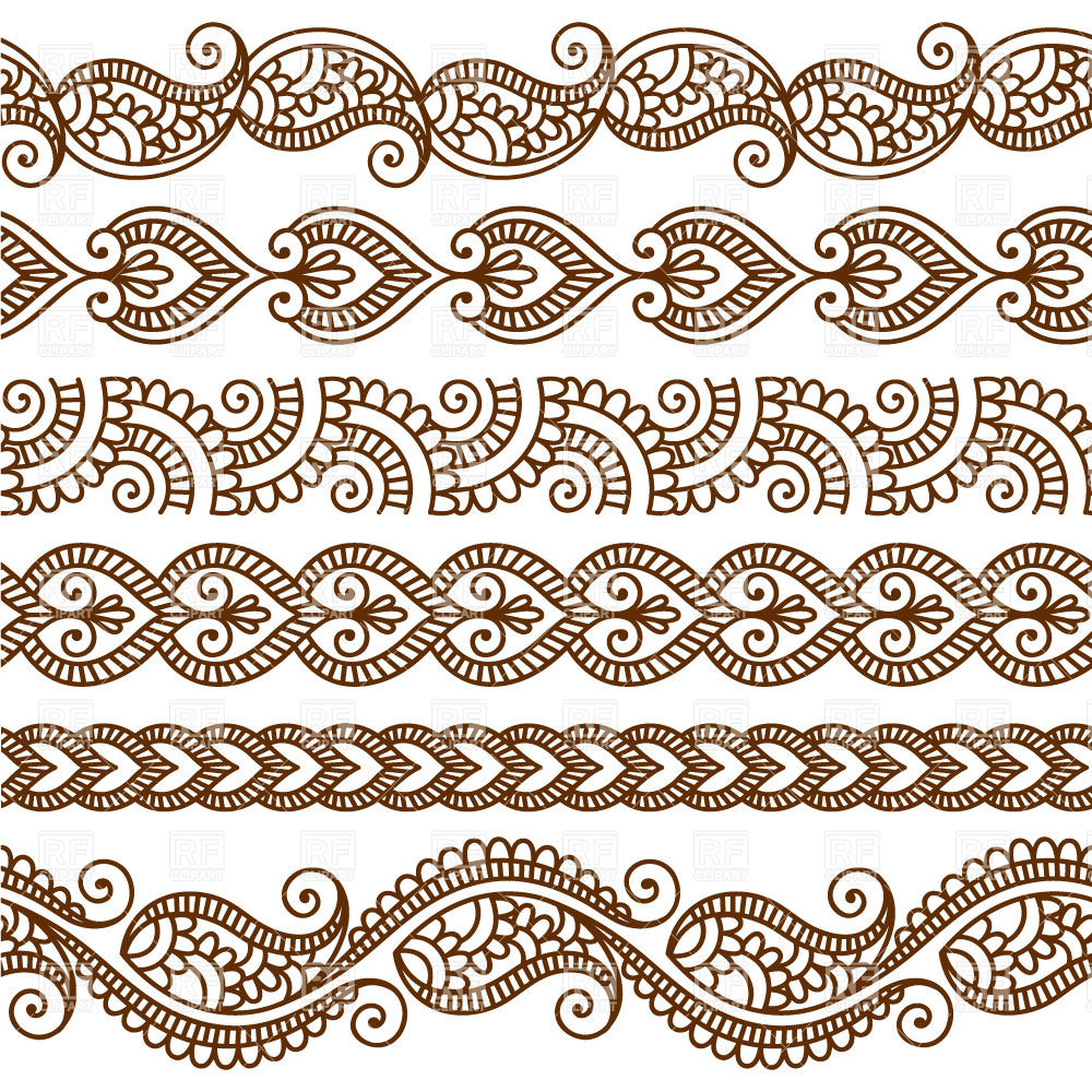 1000x1000 Borders And Frames In Mehndi Style