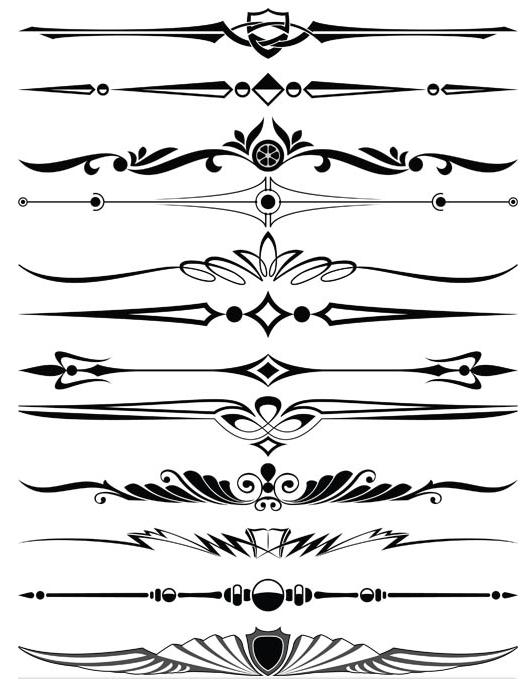 532x680 Ornament Borders Elements 13 Ai Format Free Vector Download