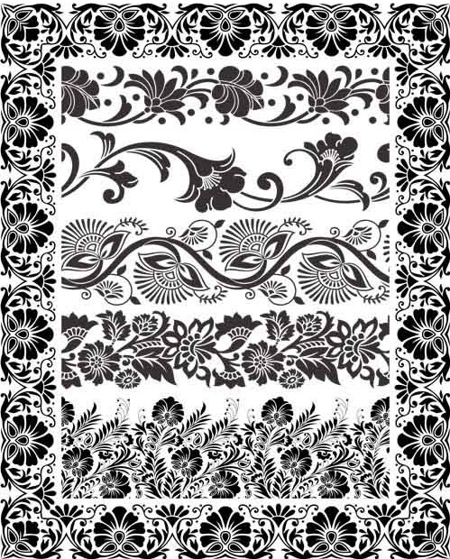 499x620 Ornamental Borders 13 Ai Format Free Vector Download