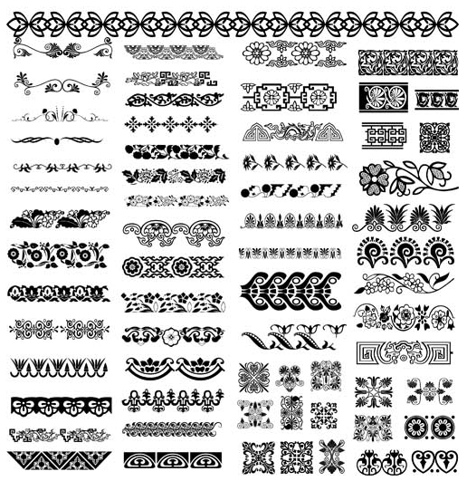 516x531 Ornamental Seamless Borders Vector Ai Format Free Vector