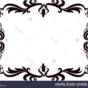 300x300 Stock Photo Vintage Baroque Frame Scroll Floral Ornament Border
