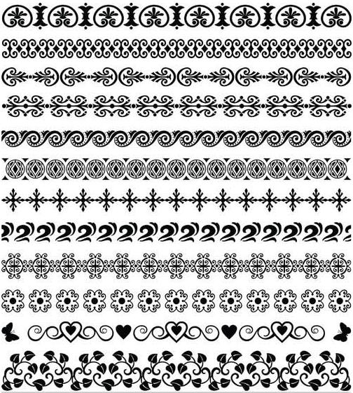 504x561 Vintage Ornamental Borders 25 Ai Format Free Vector Download