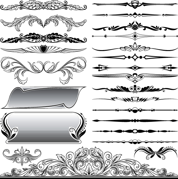 583x586 Border Vectors Free Download Ornaments Elements Vector Border