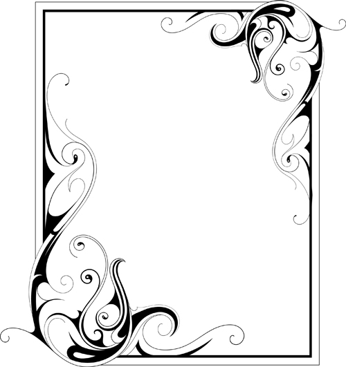 500x531 Simple Ornament Frame Vector Material 02 Free Download