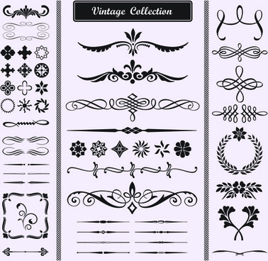 378x368 Calligraphic Ornaments Border Free Vector Download (17,406 Free