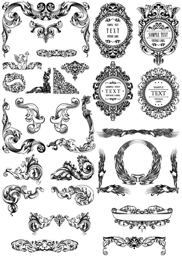 600x855 Filigree Vector Free Download 99 Best Scrolls And Borders Images