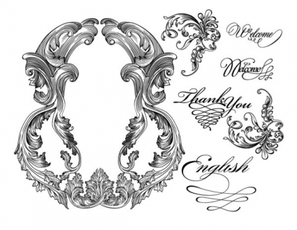 425x330 Fine Ornaments Lace And Borders Vector Graphic Vector Free