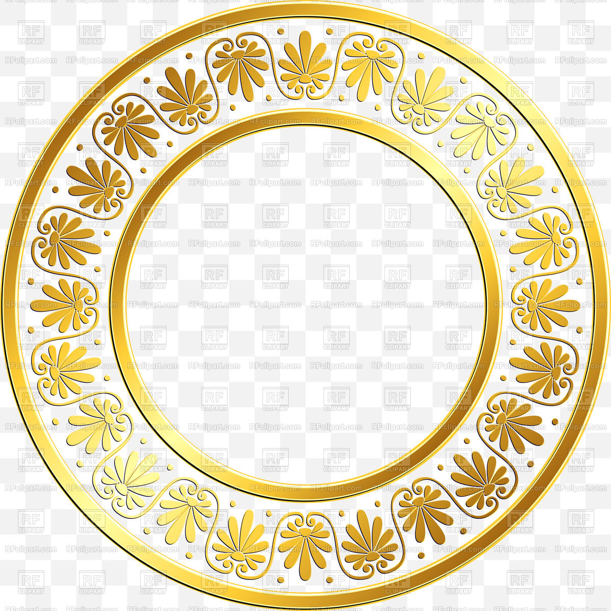 1200x1200 Round Greek Ornament Frame Vector Image Vector Artwork Of