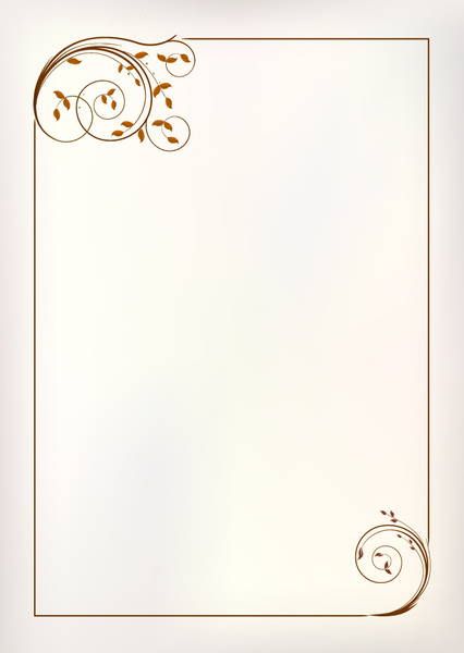 426x600 Simple Ornament Frame Vector Free Vector In Adobe Illustrator Ai