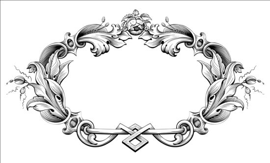 550x333 Baroque Ornaments Frame Vector Free Download