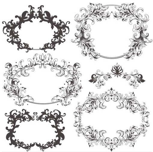 509x507 Swirl Ornament Frames Vector Ai Format Free Vector Download