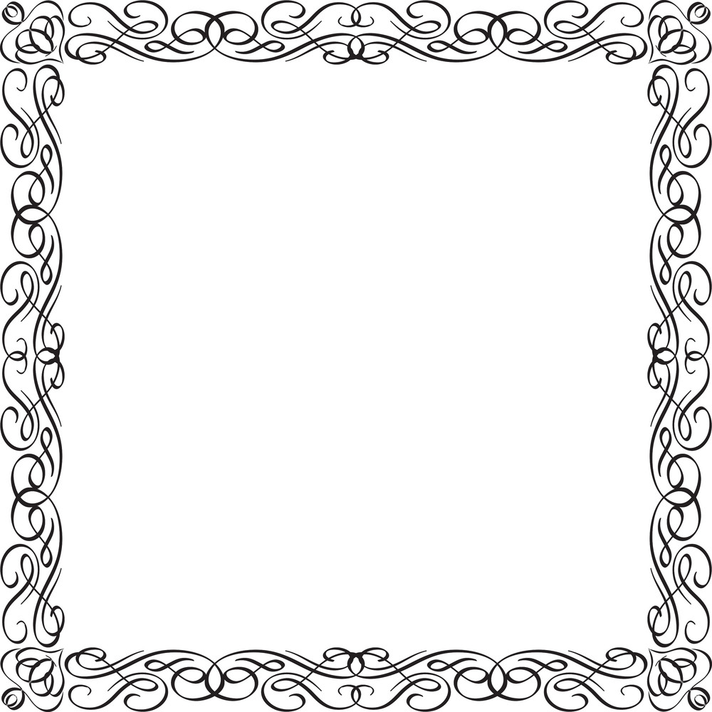 1000x1000 Floral Frame Vector Ornament Royalty Free Stock Image