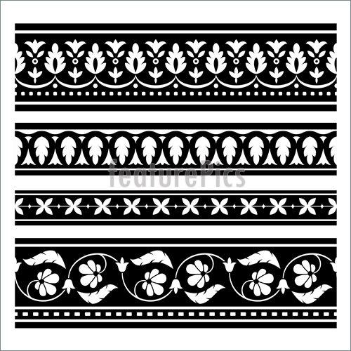 500x500 Illustration Of Seamless Ornament Borders